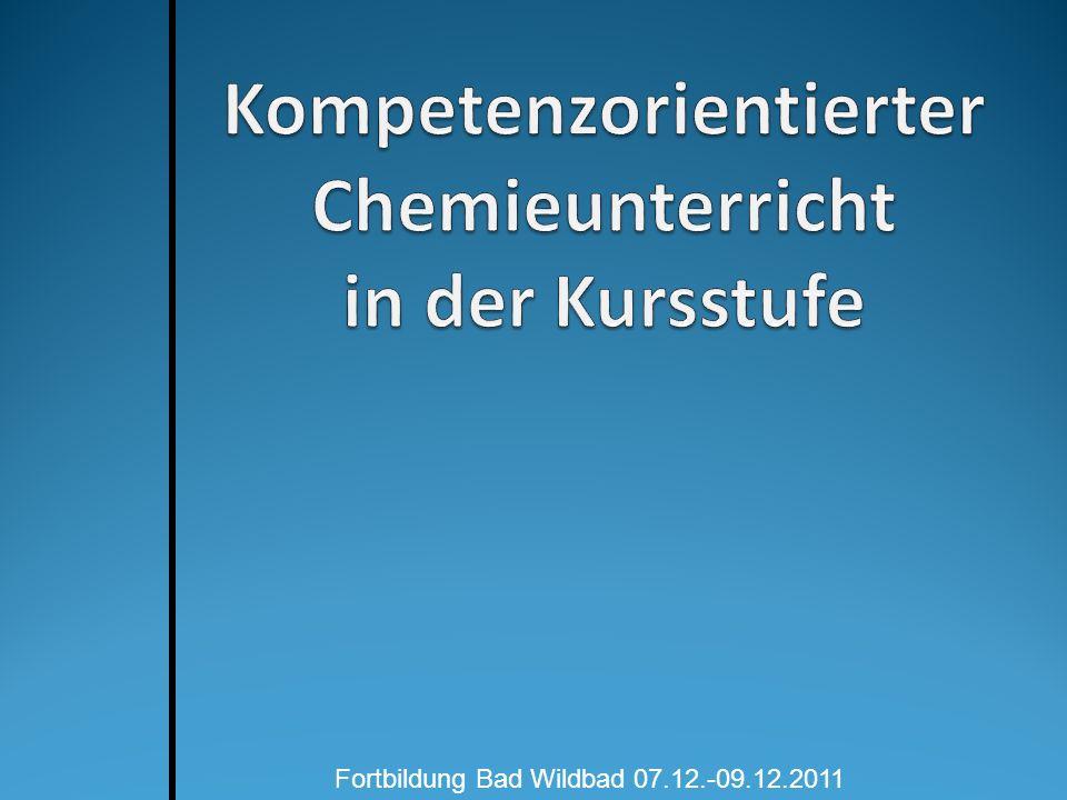 (Chemie)-Unterricht in der Kritik Welche Erwartungen gibt es seitens der Hochschulen und der Industrie.