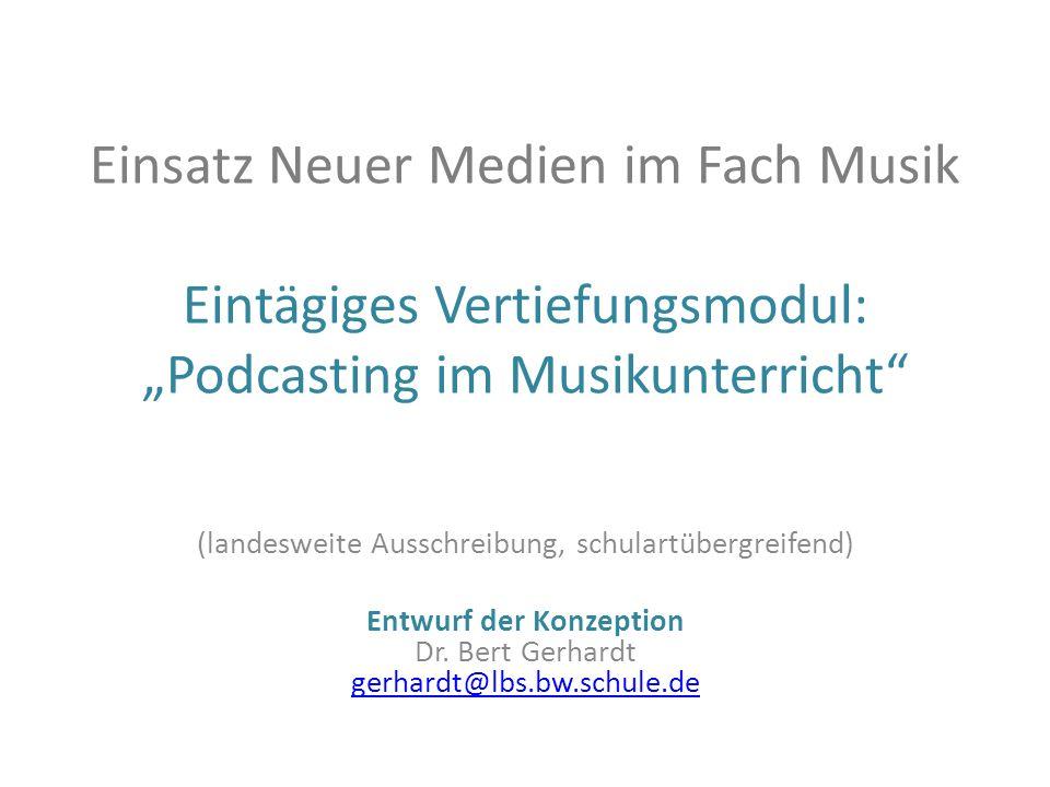 (landesweite Ausschreibung, schulartübergreifend) Entwurf der Konzeption Dr. Bert Gerhardt gerhardt@lbs.bw.schule.de gerhardt@lbs.bw.schule.de Einsatz