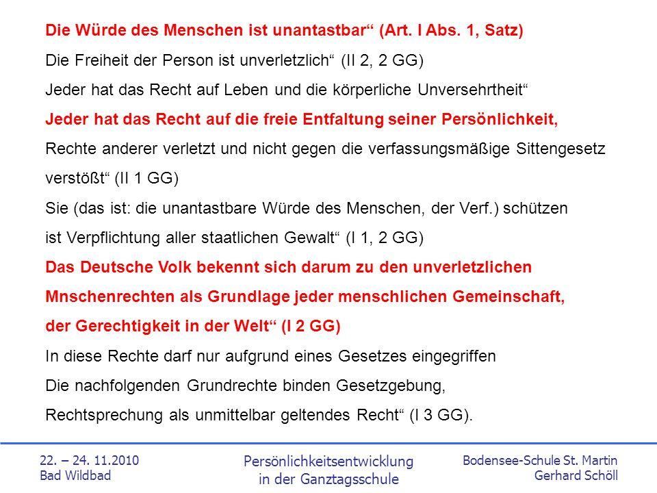 Bodensee-Schule St.Martin Gerhard Schöll 22. – 24.
