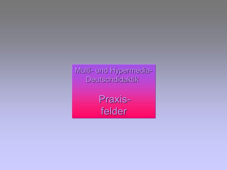 Multi- und Hypermedia- Deutschdidaktik Praxis- felder