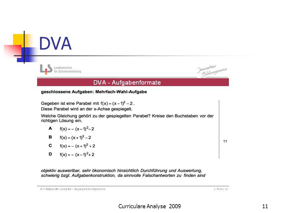 Curriculare Analyse 200911 DVA