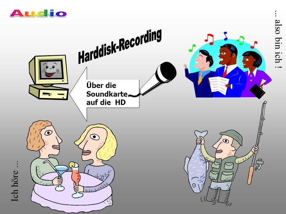 Ich höre...... also bin ich ! Über die Soundkarte auf die HD