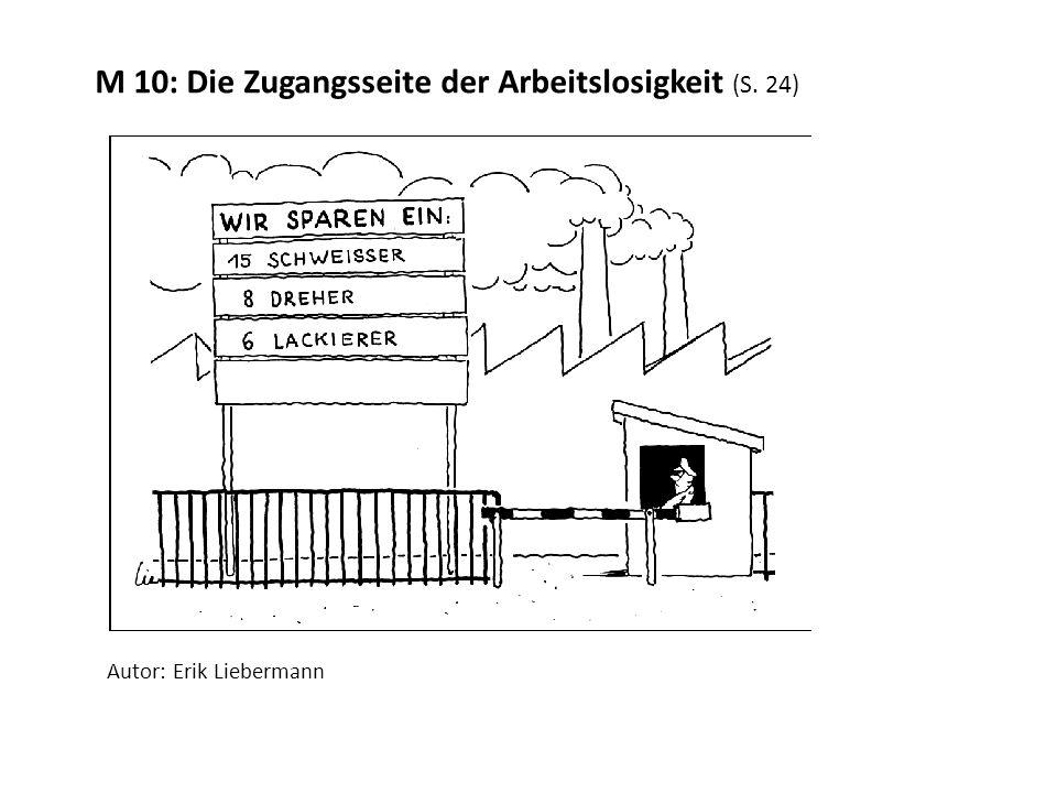 M 10: Die Zugangsseite der Arbeitslosigkeit (S. 24) Autor: Erik Liebermann