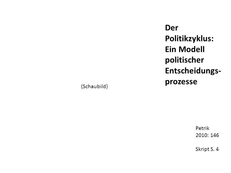 Petrik 2010: 146 Skript S. 4 Der Politikzyklus: Ein Modell politischer Entscheidungs- prozesse (Schaubild)