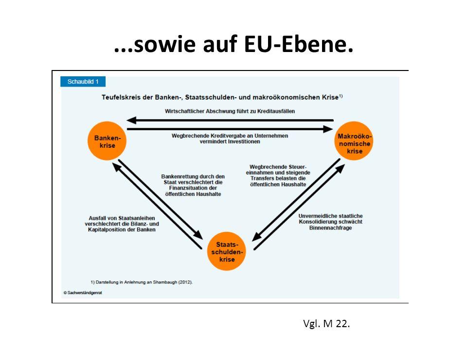 ...sowie auf EU-Ebene. Vgl. M 22.