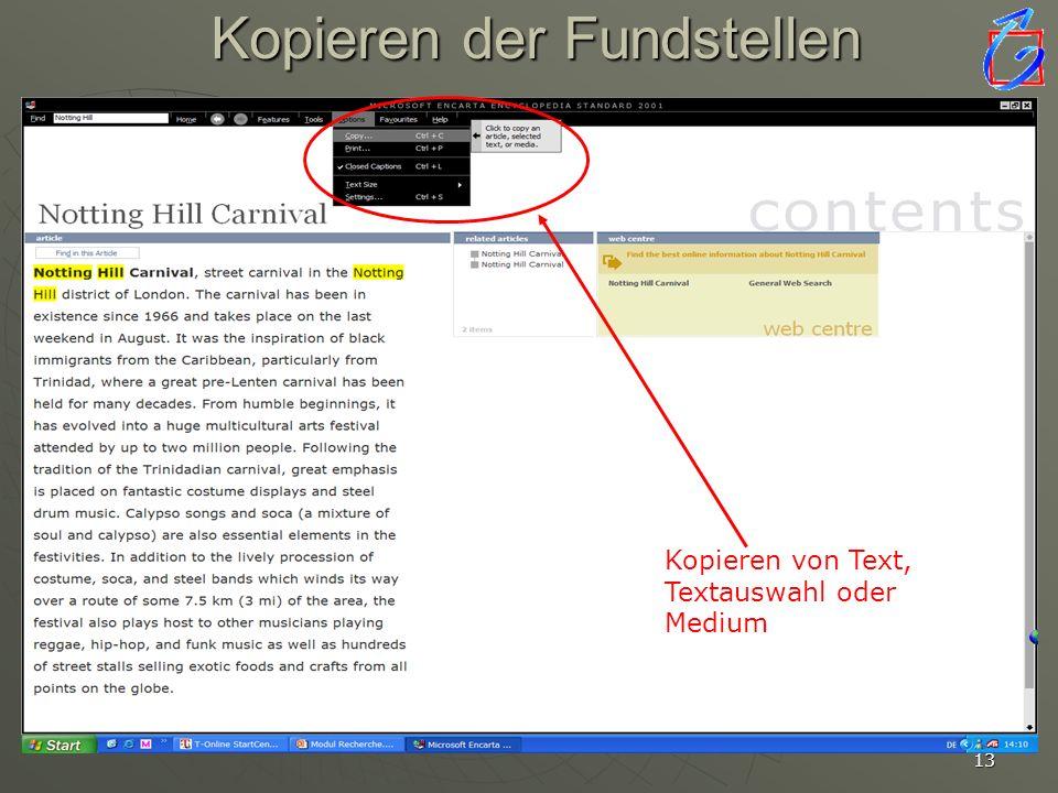 12 Recherche offline Suchbegriff Informationsmedium Artikelauswahl