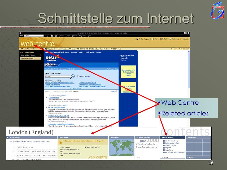 15 Verwenden der Fundstellen Einfügen in WORD-Dokument Einfügen in WORD-Dokument Einfügen in PowerPoint Folie Einfügen in PowerPoint Folie Weiterbearb