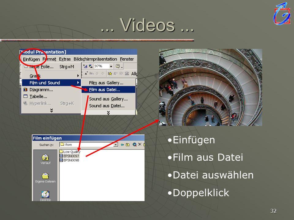 31... Sounds... Dateigrößen beachten! Siehe Modul