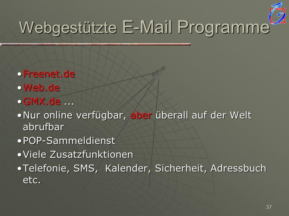 36 E-Mail Programme Z. B. Microsoft Outlook Vernetzt mit allen Programmen auf dem ComputerVernetzt mit allen Programmen auf dem Computer Verschiedene