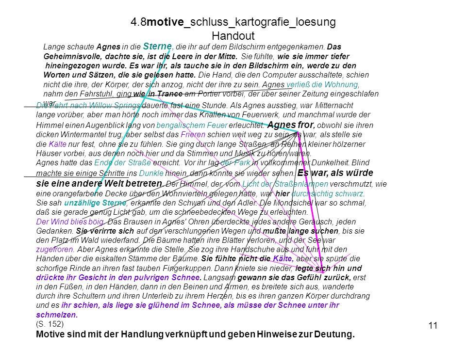 11 4.8motive_schluss_kartografie_loesung Handout Lange schaute Agnes in die Sterne, die ihr auf dem Bildschirm entgegenkamen. Das Geheimnisvolle, dach