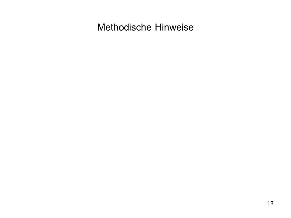 18 Methodische Hinweise
