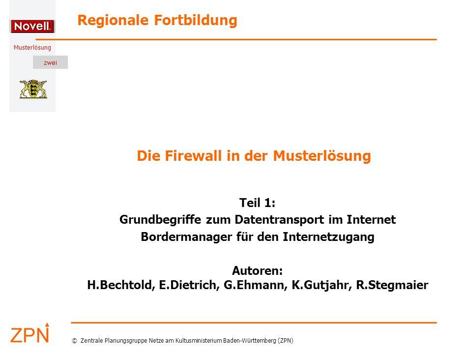 © Zentrale Planungsgruppe Netze am Kultusministerium Baden-Württemberg (ZPN) Musterlösung 02.04.2005 2 H.