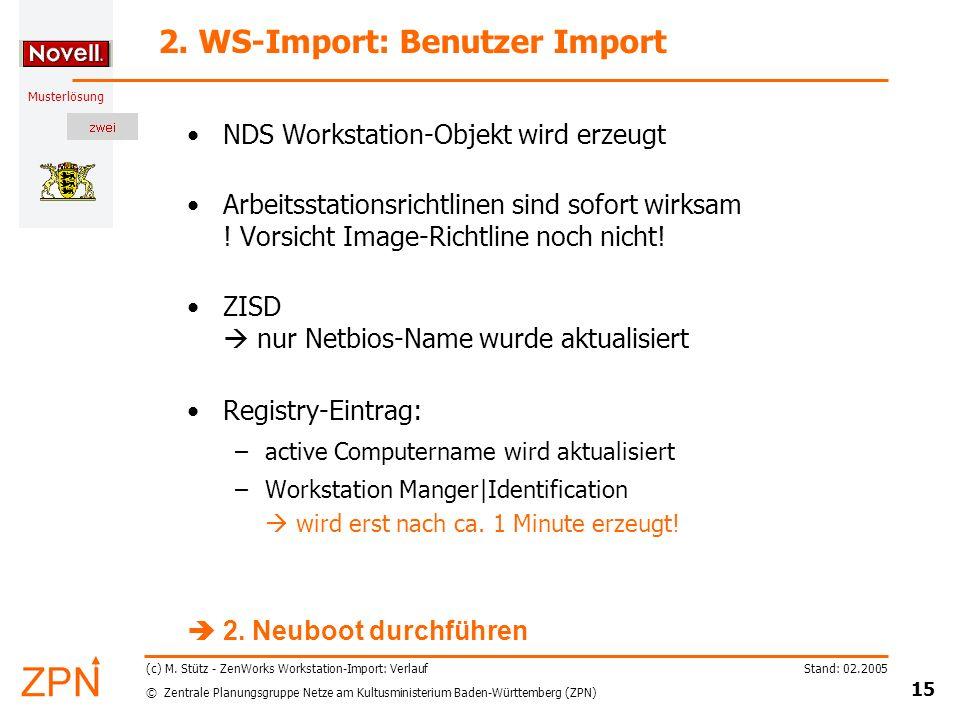 © Zentrale Planungsgruppe Netze am Kultusministerium Baden-Württemberg (ZPN) Musterlösung Stand: 02.2005 15 (c) M.