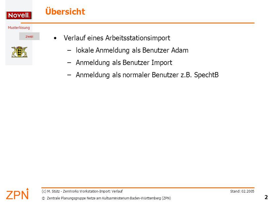 © Zentrale Planungsgruppe Netze am Kultusministerium Baden-Württemberg (ZPN) Musterlösung Stand: 02.2005 2 (c) M.