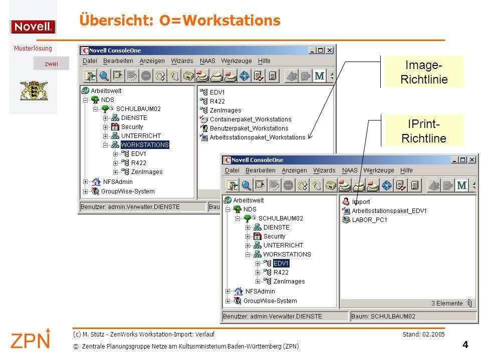 © Zentrale Planungsgruppe Netze am Kultusministerium Baden-Württemberg (ZPN) Musterlösung Stand: 02.2005 4 (c) M.