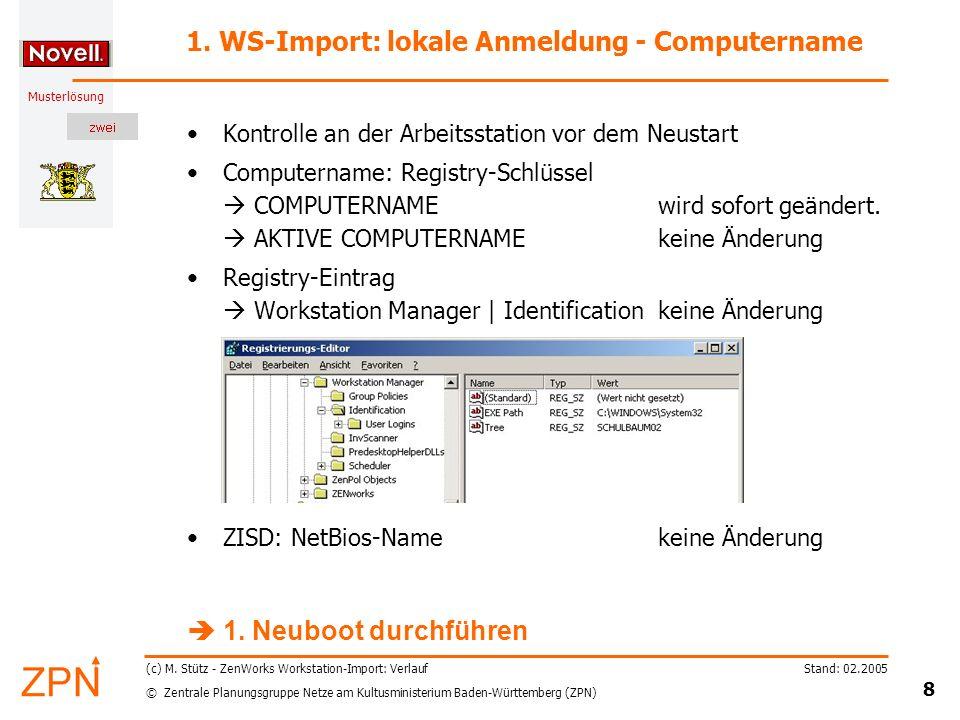 © Zentrale Planungsgruppe Netze am Kultusministerium Baden-Württemberg (ZPN) Musterlösung Stand: 02.2005 8 (c) M.