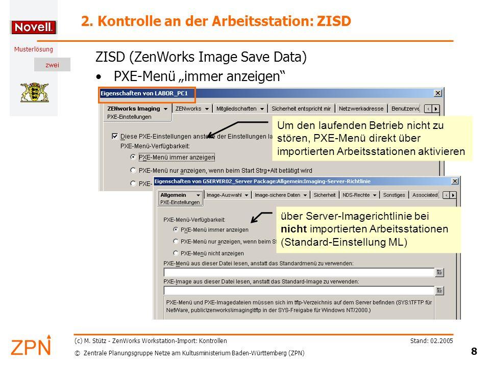 © Zentrale Planungsgruppe Netze am Kultusministerium Baden-Württemberg (ZPN) Musterlösung Stand: 02.2005 19 (c) M.