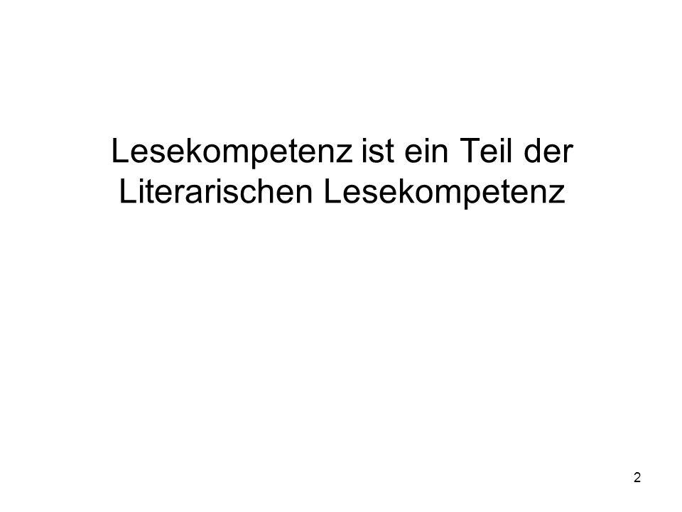 2 Lesekompetenz ist ein Teil der Literarischen Lesekompetenz