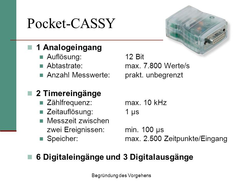 Pocket-CASSY 1 Analogeingang Auflösung:12 Bit Abtastrate:max.