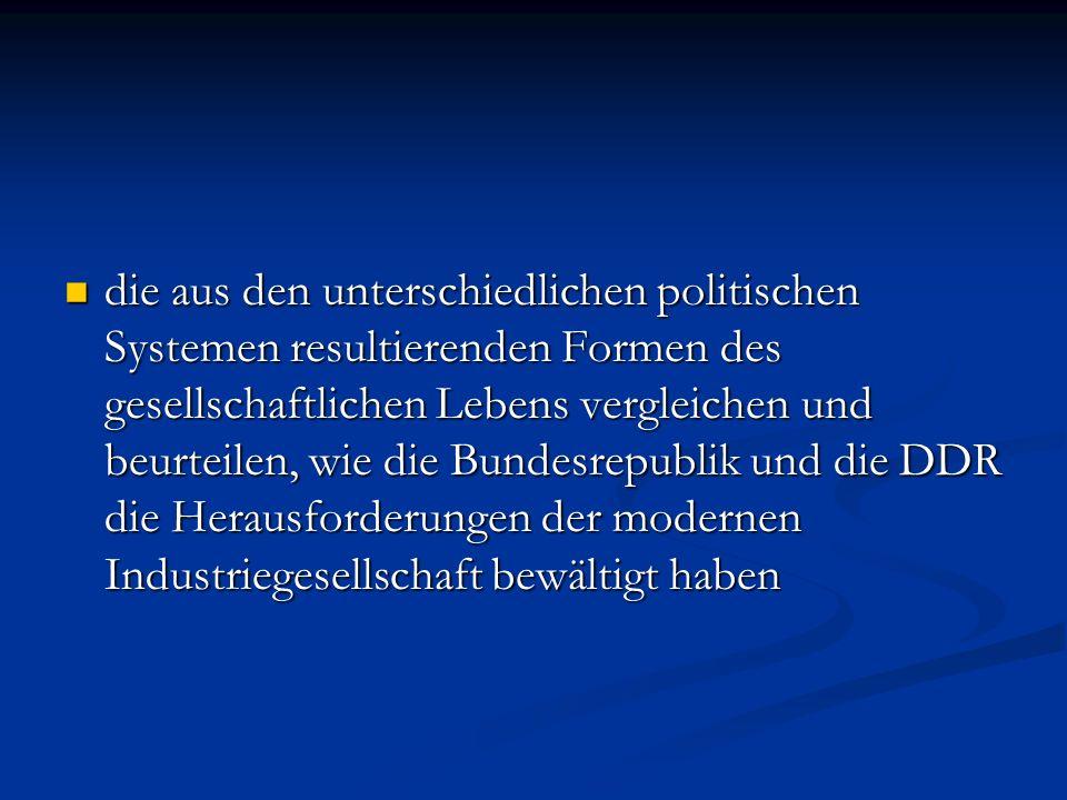 Bundesrepublik und DDR – wer war moderner.