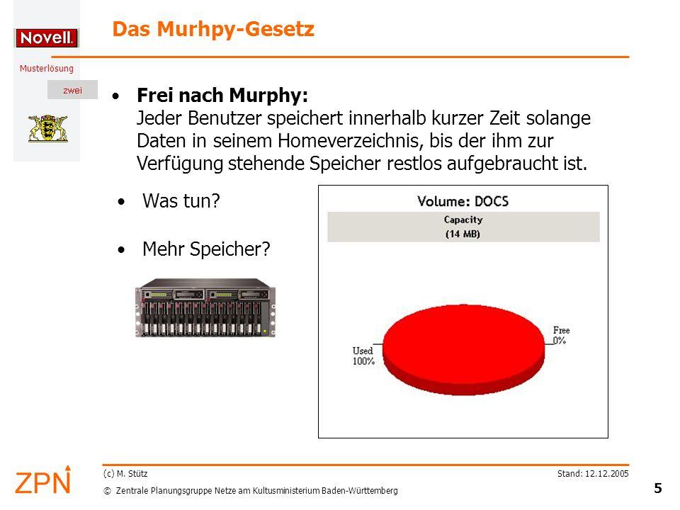 © Zentrale Planungsgruppe Netze am Kultusministerium Baden-Württemberg Musterlösung Stand: 12.12.2005 16 (c) M.