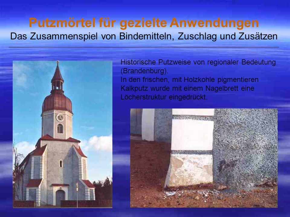 Historische Putzweise von regionaler Bedeutung (Brandenburg).