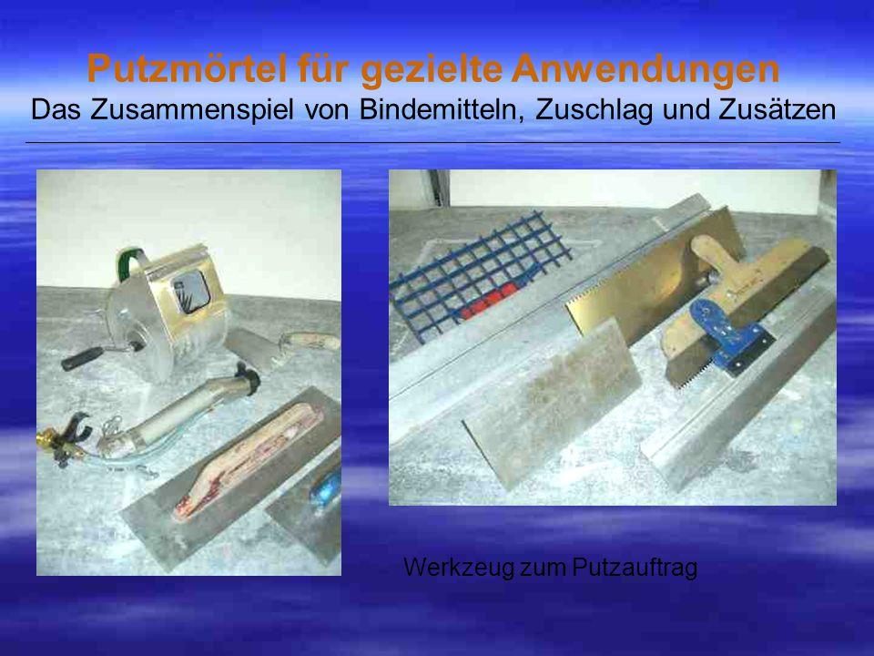 Werkzeug zum Putzauftrag