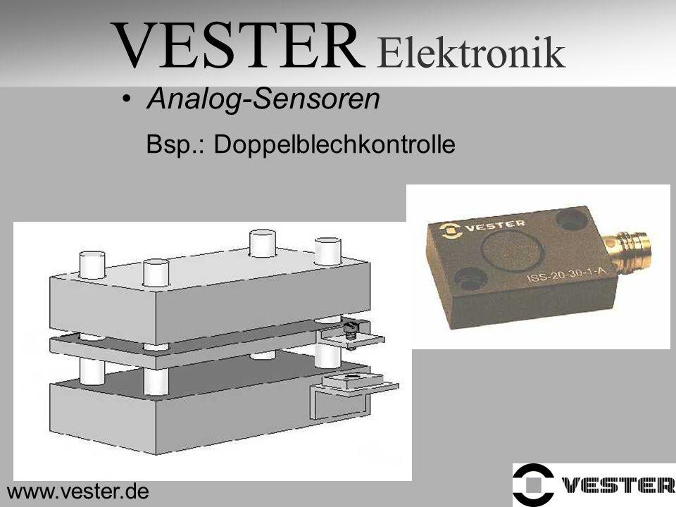 VESTER Elektronik www.vester.de Analog-Sensoren Bsp.: Doppelblechkontrolle