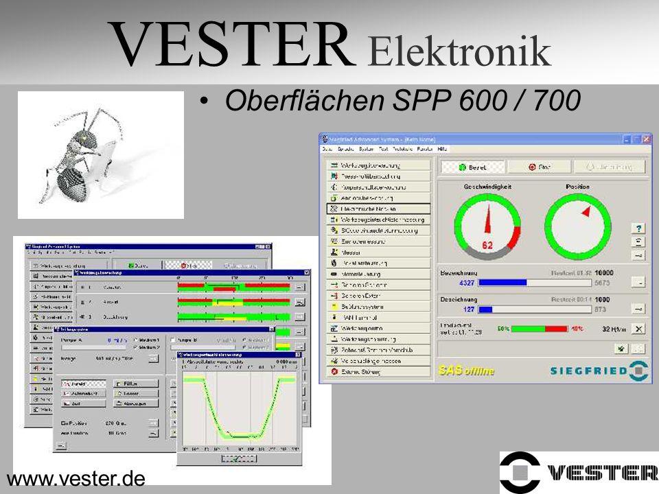 VESTER Elektronik Oberflächen SPP 600 / 700 www.vester.de