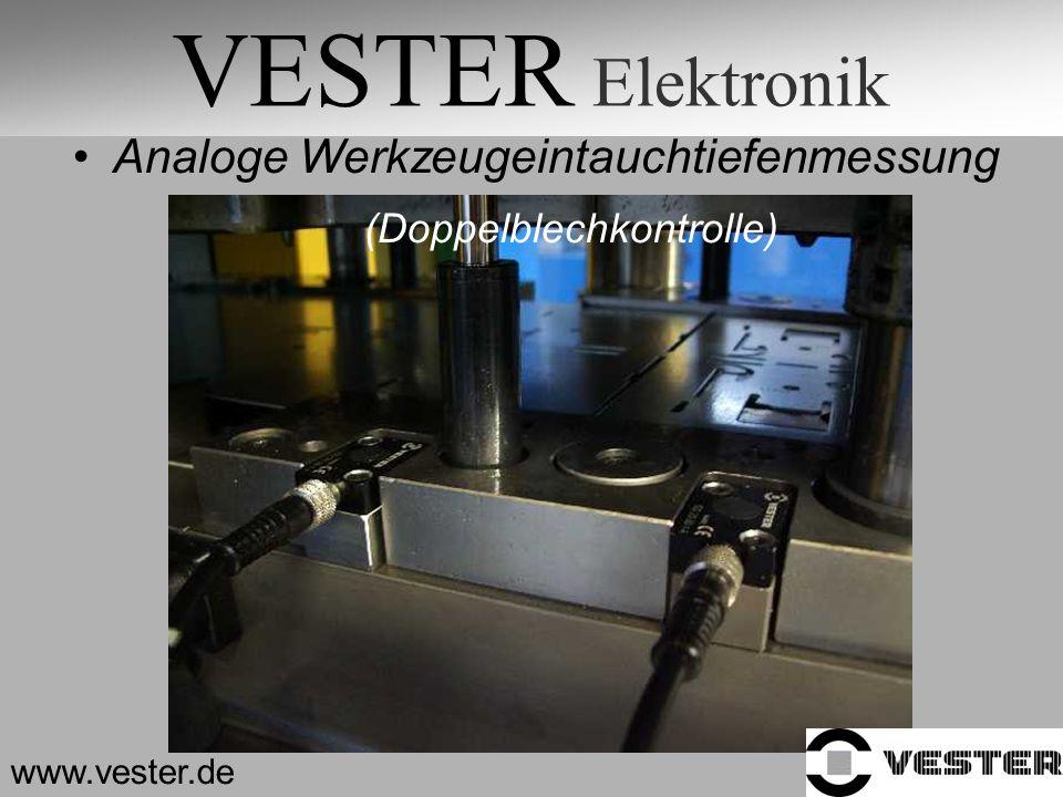 VESTER Elektronik www.vester.de Analoge Werkzeugeintauchtiefenmessung (Doppelblechkontrolle)