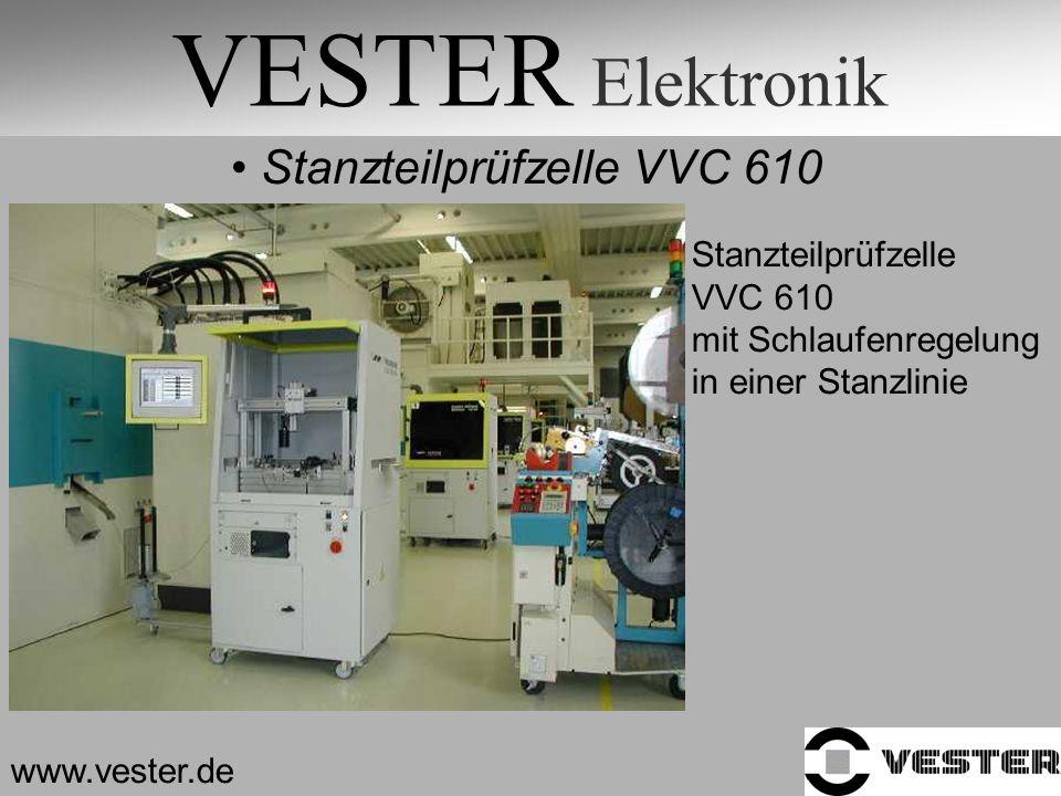 VESTER Elektronik Stanzteilprüfzelle VVC 610 Stanzteilprüfzelle VVC 610 mit Schlaufenregelung in einer Stanzlinie www.vester.de