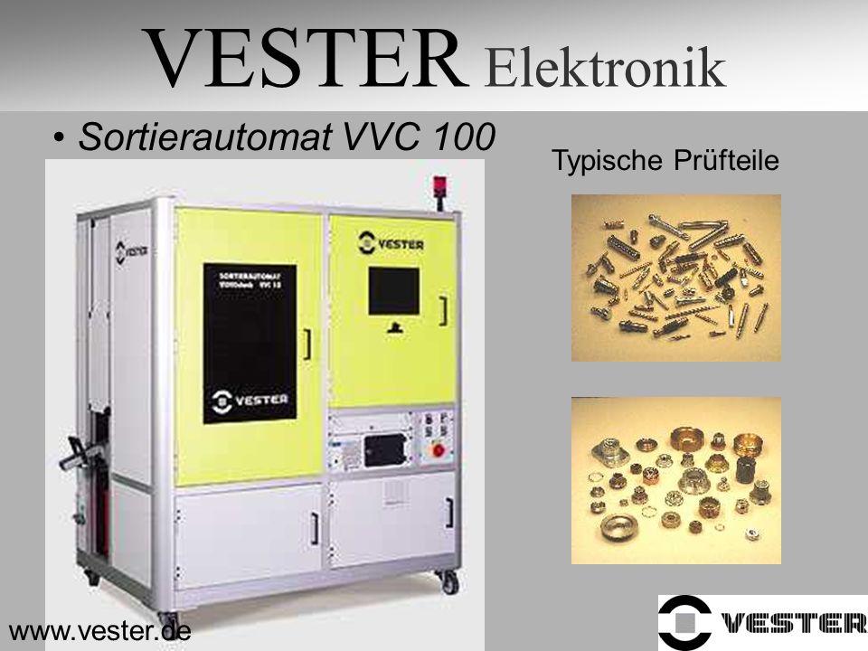VESTER Elektronik Sortierautomat VVC 100 Typische Prüfteile www.vester.de