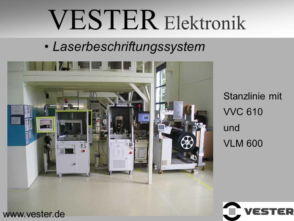 VESTER Elektronik Laserbeschriftungssystem Stanzlinie mit VVC 610 und VLM 600 www.vester.de