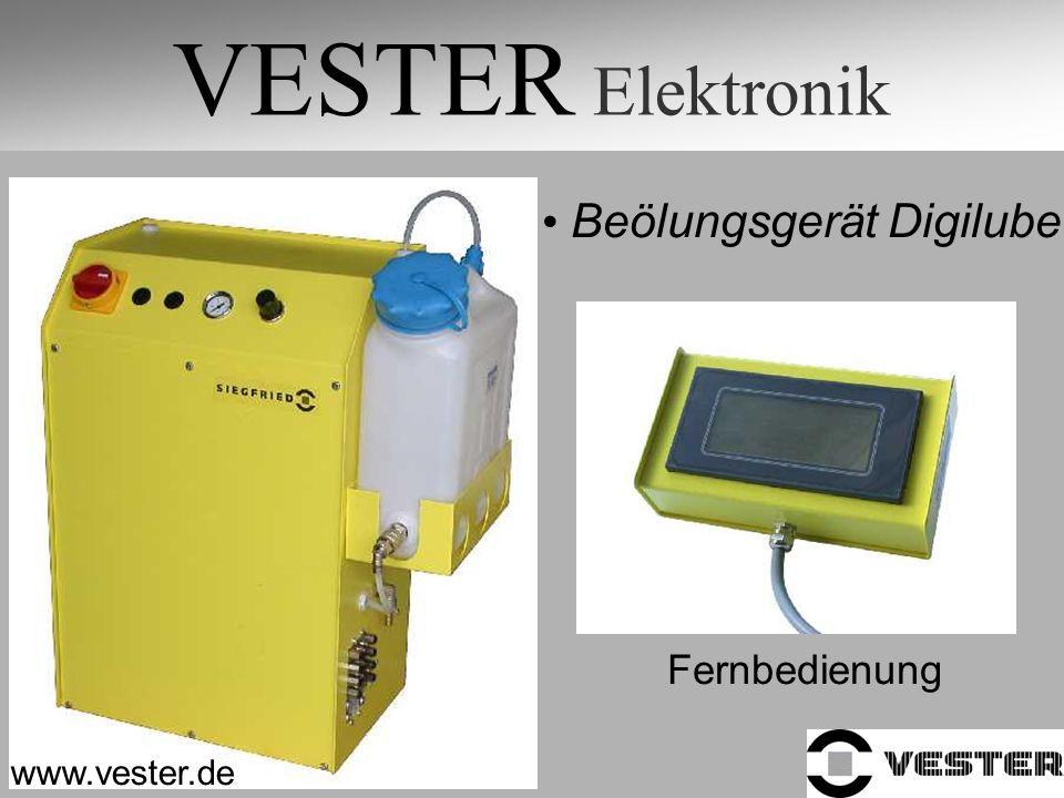 VESTER Elektronik www.vester.de Beölungsgerät Digilube Fernbedienung