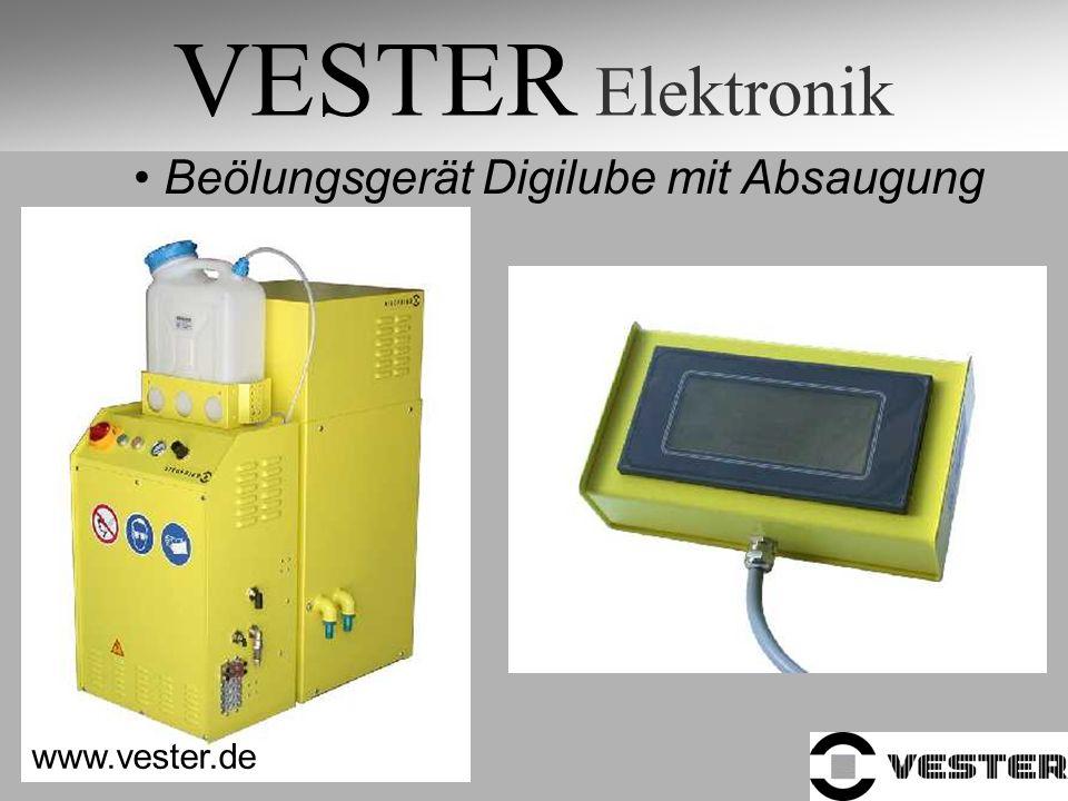 VESTER Elektronik Beölungsgerät Digilube mit Absaugung www.vester.de