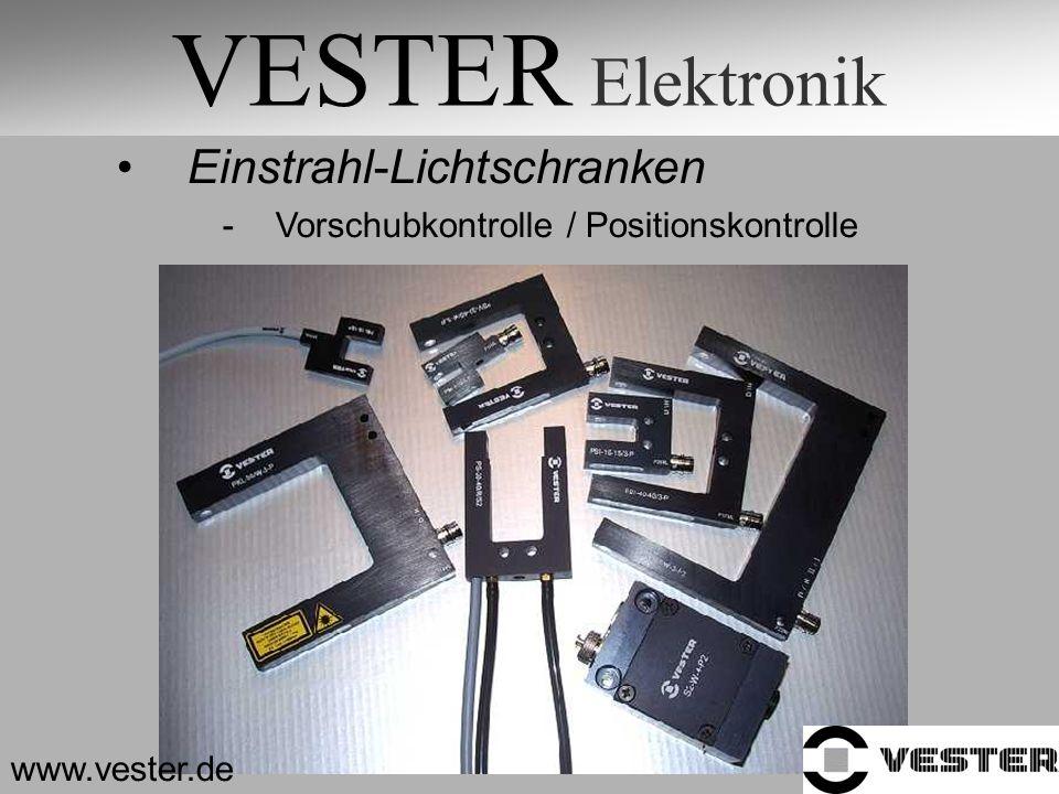 VESTER Elektronik Einstrahl-Lichtschranken -Vorschubkontrolle / Positionskontrolle www.vester.de