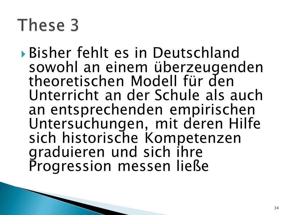 Bisher fehlt es in Deutschland sowohl an einem überzeugenden theoretischen Modell für den Unterricht an der Schule als auch an entsprechenden empirisc