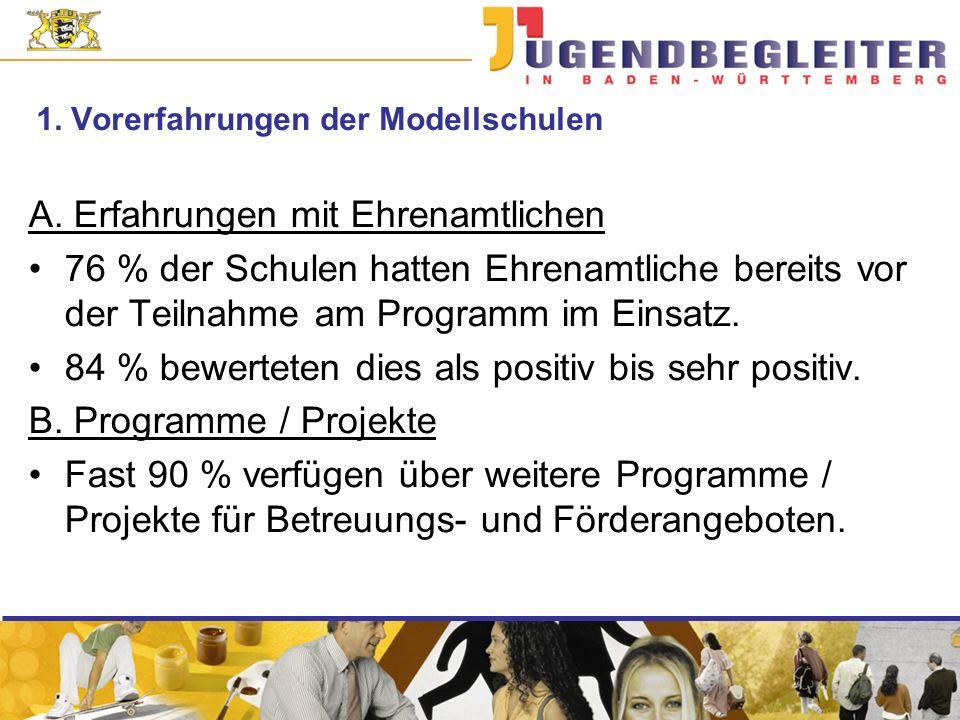 1. Vorerfahrungen der Modellschulen A.