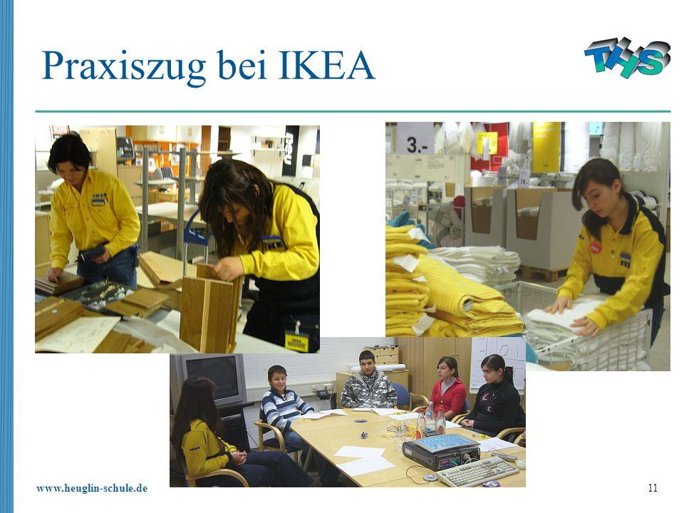 www.heuglin-schule.de 11 Praxiszug bei IKEA