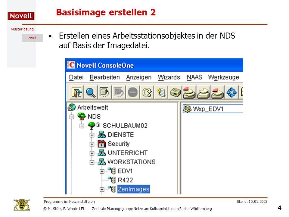 © M. Stütz, F. Wrede LEU - Zentrale Planungsgruppe Netze am Kultusministerium Baden-Württemberg Musterlösung zwei Stand: 15.01.2003 4 Programme im Net