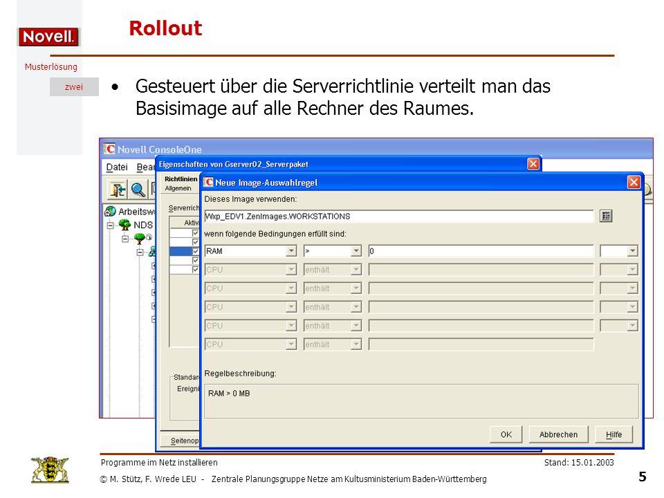 © M. Stütz, F. Wrede LEU - Zentrale Planungsgruppe Netze am Kultusministerium Baden-Württemberg Musterlösung zwei Stand: 15.01.2003 5 Programme im Net