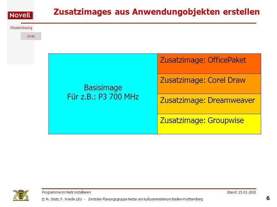 © M. Stütz, F. Wrede LEU - Zentrale Planungsgruppe Netze am Kultusministerium Baden-Württemberg Musterlösung zwei Stand: 15.01.2003 6 Programme im Net