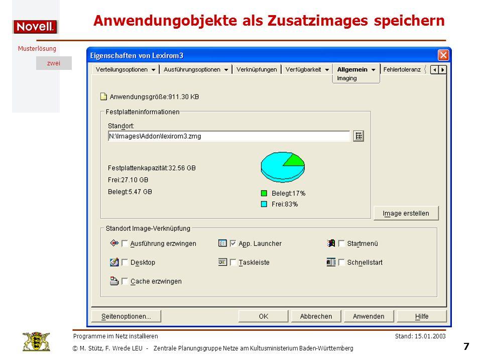 © M. Stütz, F. Wrede LEU - Zentrale Planungsgruppe Netze am Kultusministerium Baden-Württemberg Musterlösung zwei Stand: 15.01.2003 7 Programme im Net