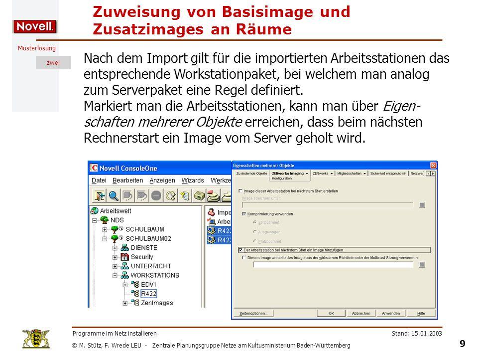 © M. Stütz, F. Wrede LEU - Zentrale Planungsgruppe Netze am Kultusministerium Baden-Württemberg Musterlösung zwei Stand: 15.01.2003 9 Programme im Net