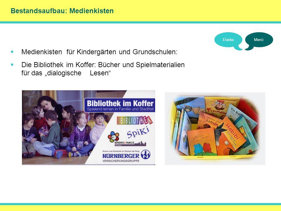 Bestandsaufbau: Medienkisten DankeMerci Medienkisten für Kindergärten und Grundschulen: Die Bibliothek im Koffer: Bücher und Spielmaterialien für das
