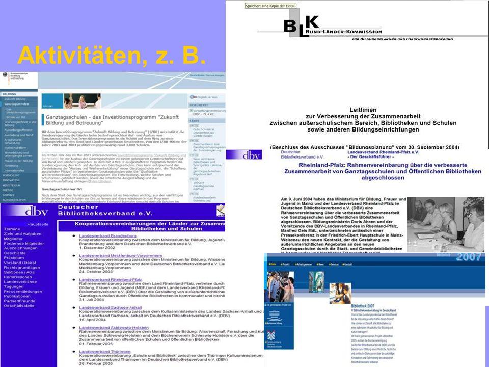 ©Stadtbücherei Frankfurt am Main / Schulbibliothekarische Arbeitsstelle 8/2005 Conference Library & School, Goethe-Institut Riga 22./23.09.2005 www.goethe.de/riga 34 Expertengruppe Bibliothek & Schule des DBV bis 2003: ehem.