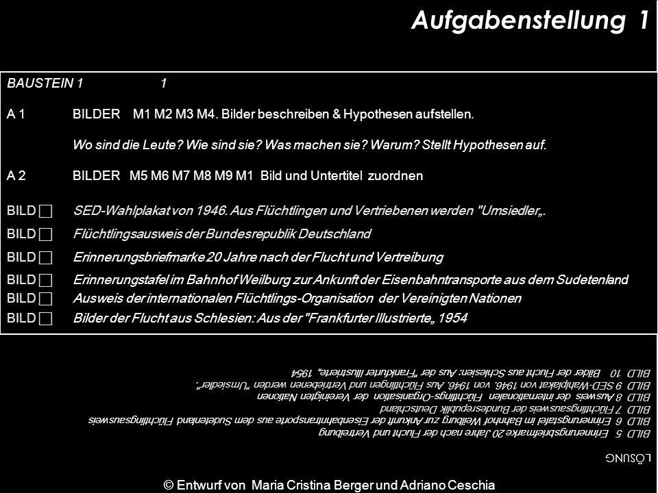 M 2 Flüchtlinge im zerstörten Breslau, 1945 Quelle: Stiftung Preußischer Kulturbesitz Aufgabe A1 M 1 Flüchtlinge aus Smyrna, 1922 Quelle: Privatbesitz © Entwurf von Maria Cristina Berger und Adriano Ceschia