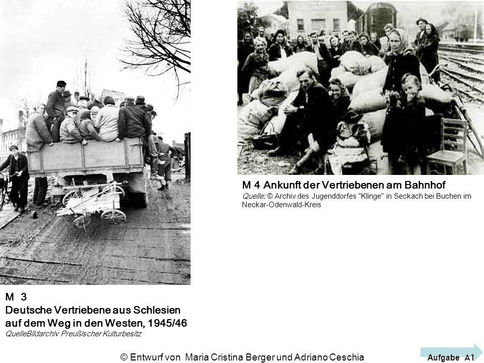 M 3 Deutsche Vertriebene aus Schlesien auf dem Weg in den Westen, 1945/46 QuelleBildarchiv Preußischer Kulturbesitz M 4 Ankunft der Vertriebenen am Ba