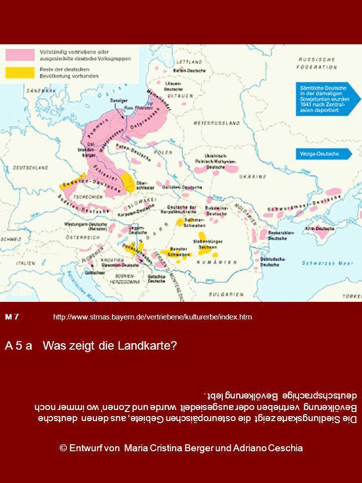 Die Siedlungskarte zeigt die osteuropäischen Gebiete, aus denen deutsche Bevölkerung vertrieben oder ausgesiedelt wurde und Zonen wo immer noch deutsc