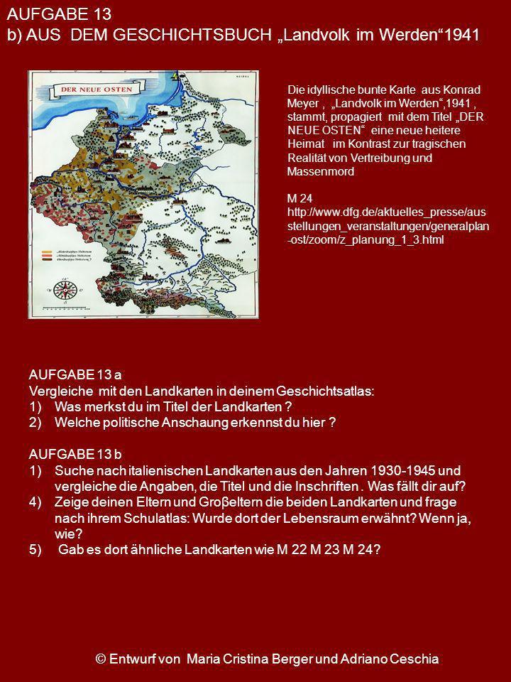 © Entwurf von Maria Cristina Berger und Adriano Ceschia Die idyllische bunte Karte aus Konrad Meyer, Landvolk im Werden,1941, stammt, propagiert mit d